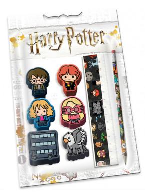 Set de Papelería Harry Potter Gomas Chibi