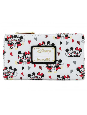 Cartera tarjetero Loungefly Mickey & Minnie Corazón de Ratón