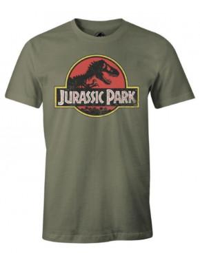 Camiseta Parque Jurásico Logo Caqui