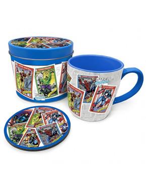 Lata regalo taza + posavasos Marvel Retro
