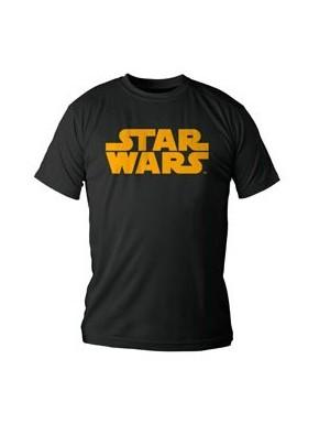 Camiseta Niño Star Wars logo naranja