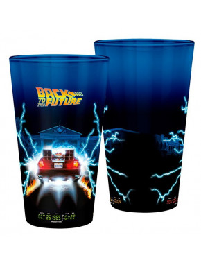 BACK TO THE FUTURE - Large Glass - 400ml -DeLorean - x2