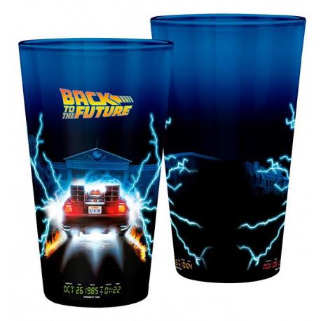 BACK TO THE FUTURE - Large Glass - 400ml -DeLorean - x2