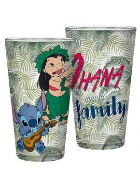 Vaso de Cristal Lilo y Stitch 400 ml