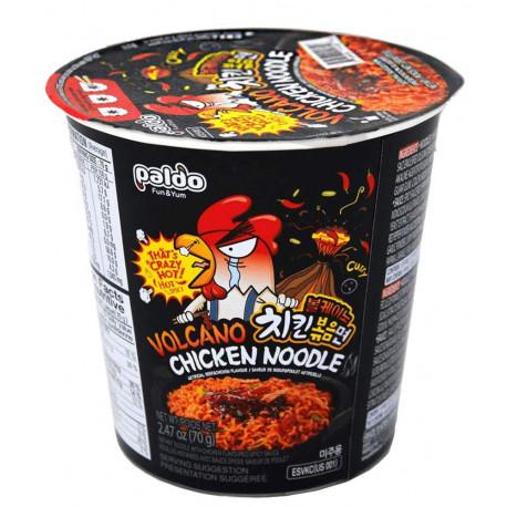 Ramen Cup Coreano Volcano sabor pollo Paldo
