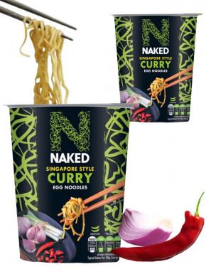 Noodles de huevo Singapur curry Naked