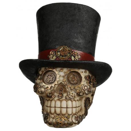 Figura Calavera Steampunk con Sombrero