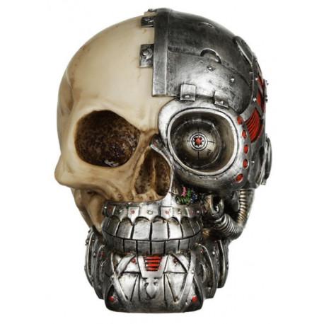 Figura Calavera Ciborg Steampunk