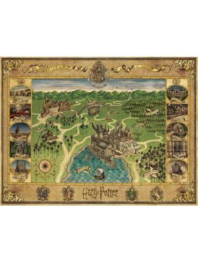 Puzzle Mapa de Hogwarts Harry Potter