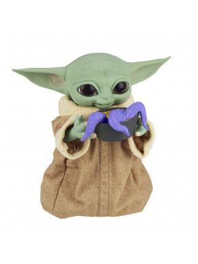 Baby Yoda Grogu animatrónico comilón El Mandaloriano
