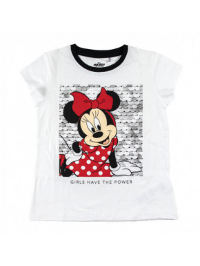 CAMISETA CORTA PREMIUM ALGODÓN SINGLE JERSEY MINNIE