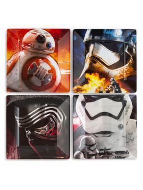 Set de 4 Platos Star Wars Personajes