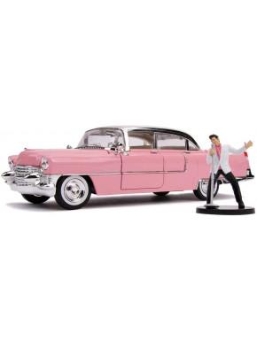 Elvis Presley Vehículo 1/24 Hollywood Rides 1955 Cadillac Fleetwood con Figura