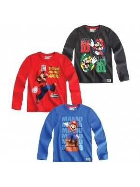 Camiseta Super Mario Niños manga larga