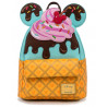 Bolso Mochila Loungefly Minnie y Mickey Ice Cream