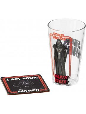 Set de Vaso y Posavasos Darth Vader