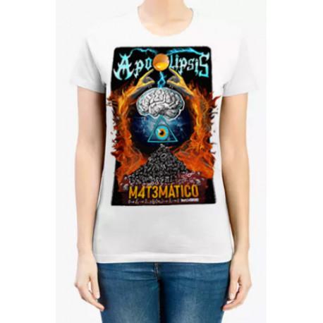 Camiseta Chica Apocalipsis Matemático Blanca