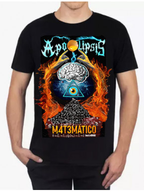 Camiseta Apocalipsis Matemático Negra