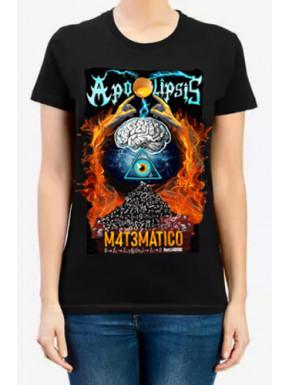 Camiseta Chica Apocalipsis Matemático Negra