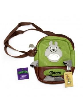 Bolso bandolera cuero Totoro verde