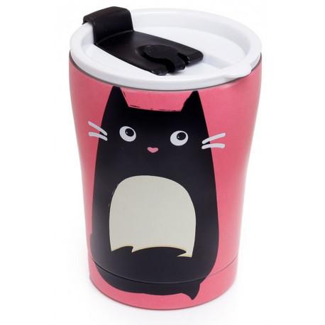 Vaso reutilizable térmico Gato Feline