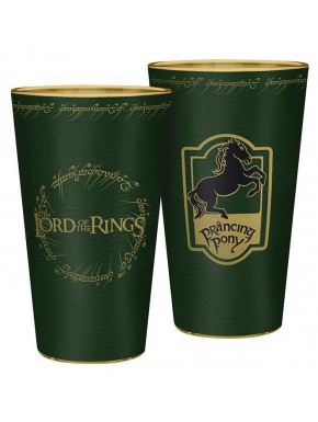 LORD OF THE RINGS - Large Glass - 400ml - Prancing Pony - x2