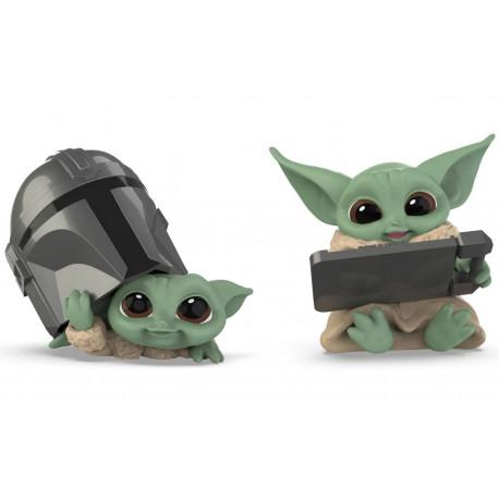 Pack 2 Figuras Baby Yoda Mandalorian