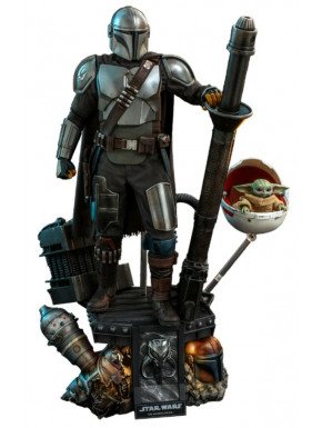 Star Wars The Mandalorian Pack de 2 Figuras 1/4 The Mandalorian & The Child Deluxe 46 cm