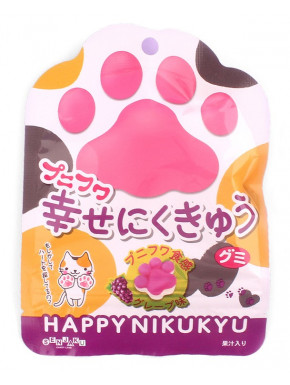 Patitas de Gato y Perro de Gominola Uva HAPPY NIKUKYU