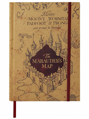 Cuaderno y pequeña réplica Mapa del Merodeador - Harry Potter
