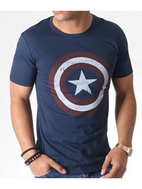 Camiseta Capitán América escudo vintage Marvel
