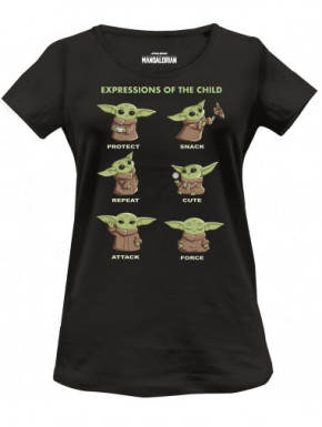 Camiseta chica expresiones Grogu El Mandaloriano