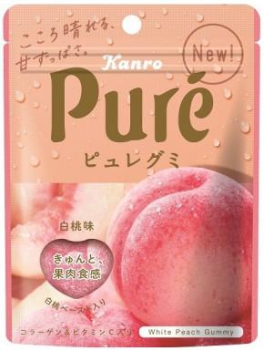 Gominolas de melocotón Kanro Pure