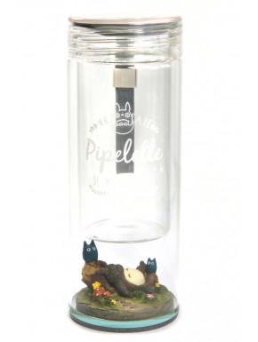 Botella Totoro transparente