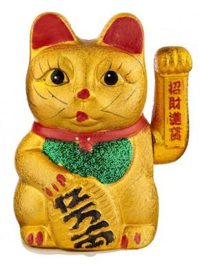 Maneki neko dorado Gato de la suerte