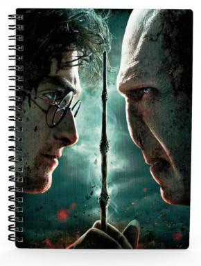 Libreta 3D Harry vs Voldemort
