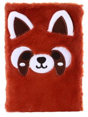 Libreta Panda Rojo Kawaii A5
