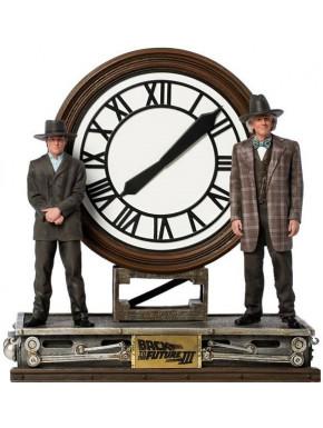 Regreso al Futuro III Estatua 1/10 Marty and Doc at the Clock 30 cm