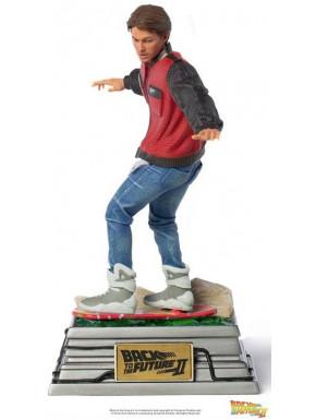 Estatua 1/10 Regreso al Futuro II Marty McFly on Hoverboard