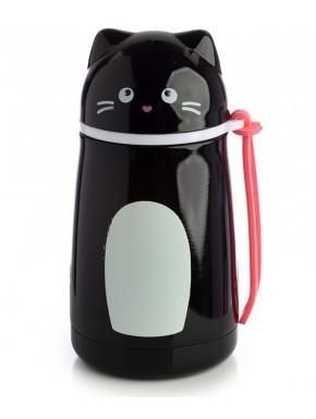 Botella Termo Gato Negro Feline Fine
