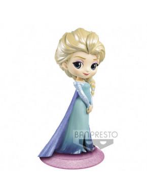 DISNEY - Elsa - Glitter line - Q Posket - 14 cm