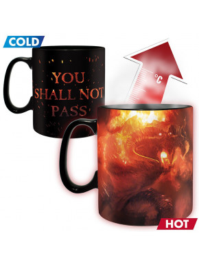 LORD OF THE RINGS - Mug Heat Change - 460 ml - You shall not pass x2