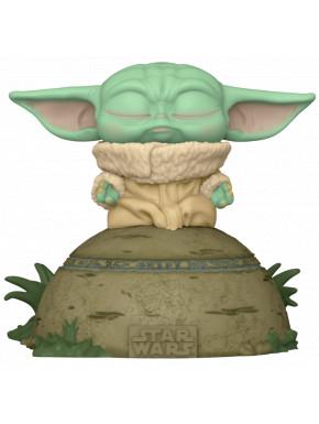 Funko Pop! Baby Yoda usando la fuerza con luz y sonido The Mandalorian