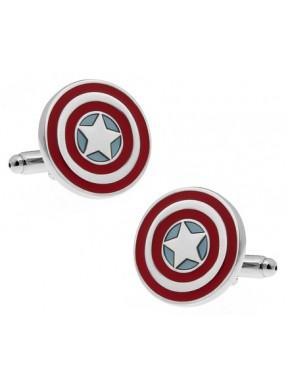 Gemelos Acero Marvel Capitan America