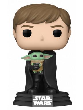 Funko Pop! Luke Skywalker con Baby Yoda The Mandalorian