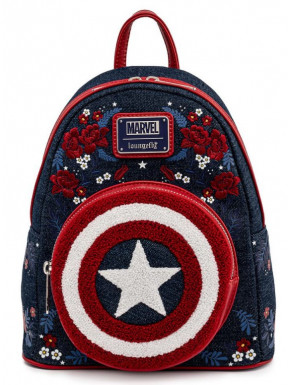 Marvel by Loungefly Mochila Captain America 80th Anniversary Floral Shield
