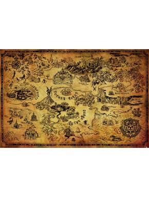 Zelda Poster Mapa de Hyrule