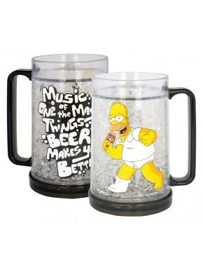 Los Simpson Jarra de cerveza congelable Homer